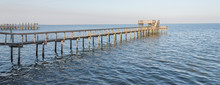 Fishing Piers Stretching Out O...