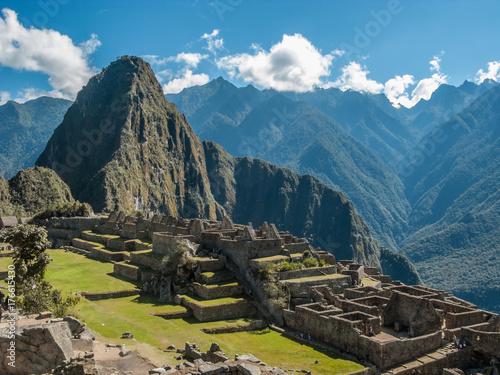 Machu Picchu citadel under the sun