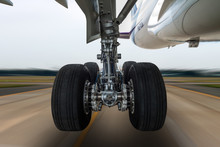Airplane Wheel In A Landing Ge...