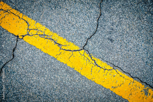 Road pavement closeup