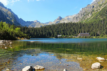 Poprad Lake In High Tatras Mou...
