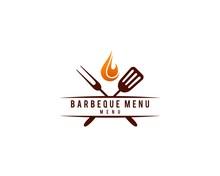 BBQ Menu Logo Template