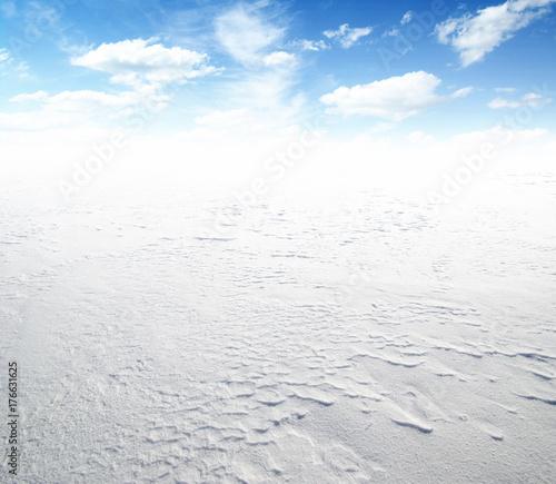 Zdjęcie XXL pole śniegu