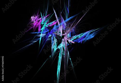 Zdjęcie XXL abstrakcyjny wzór wielobarwny fraktali