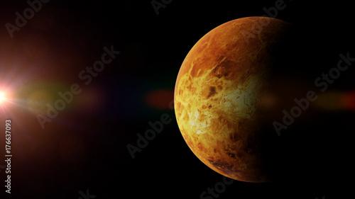 Zdjęcie XXL planeta Wenus oświetlona przez Słońce