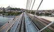 Golden Horn Metro Bridge in Istanbul, Turkey