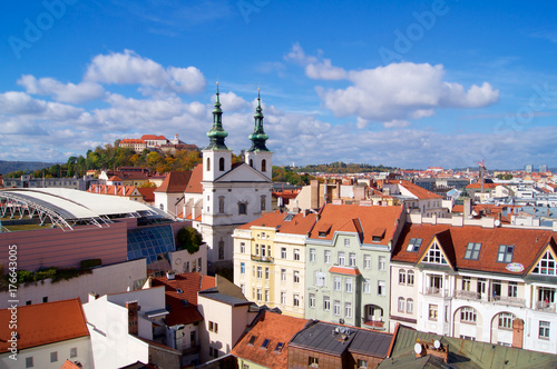 Brno panorama with Spilberk Castle Wallpaper Mural