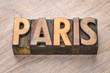 Paris word abstract in wood type