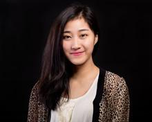 Asian Beauty Portrait On Black