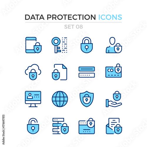 Fotografie, Obraz  Data protection icons