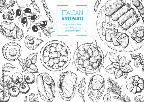 Photo Italian food top view