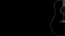 Musical Instrument - Silhouette Black Acoustic Guitar