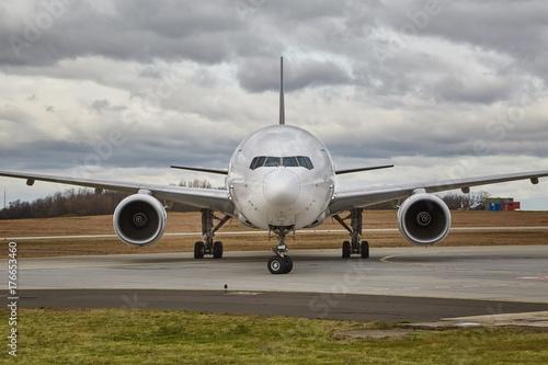 Plakat Widok z przodu samolotu