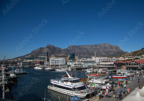 City on the water Cityscape of Cape Town and the Waterfront at the Western Cape in South Africa