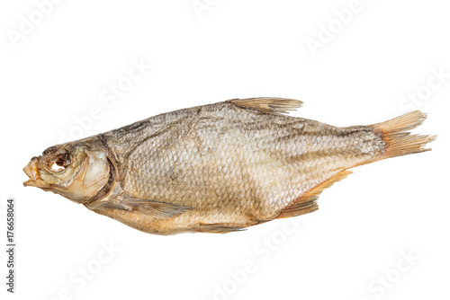 Fotografija  Dried fish bream isolated on white background