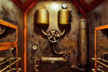 The Room In Vintage Steampunk ...