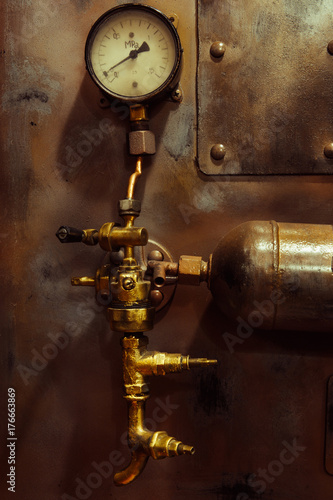Fotografering background vintage steampunk