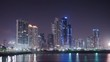Night timelapse of Panama City