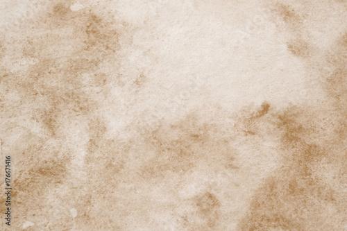 Zdjęcie XXL Brown abstrakcjonistyczny akwarela obraz textured na białego papieru tle