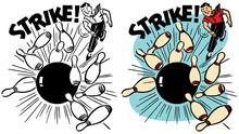 A Man Bowls A Perfect Strike I...