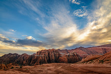 Clouds Float Over The Snow Canyon State Park In St. George, Utah