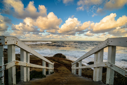 Path to the Pacific ocean in Windansea beach in San Diego, California
