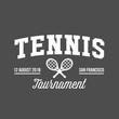 Tennis sports logo, label, emblem, design elements