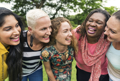 Fotografie, Obraz Friends having fun together