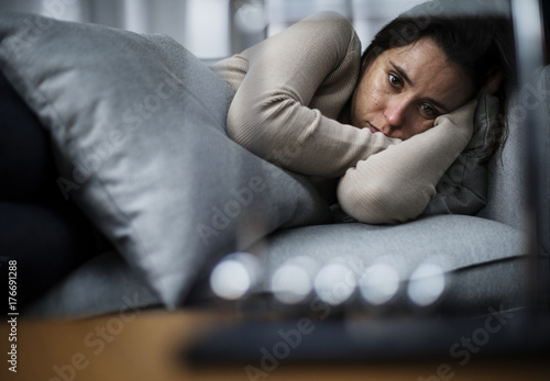 Photo  Depressed woman