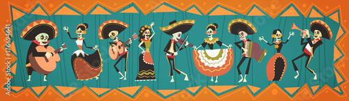 Fotografía  Day Of Dead Traditional Mexican Halloween Dia De Los Muertos Holiday Party Decor
