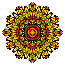 Yellow, Red, Black Color Flowe...