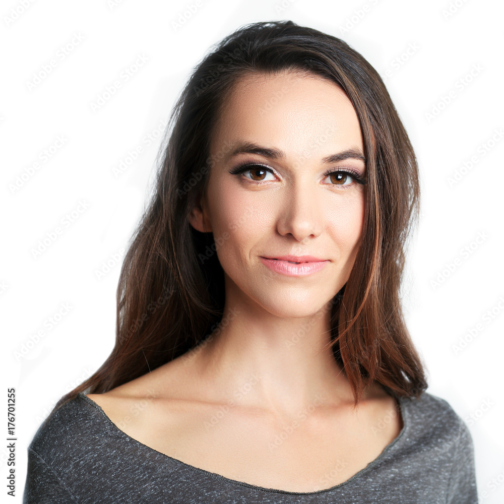 Fototapeta beautiful woman headshot