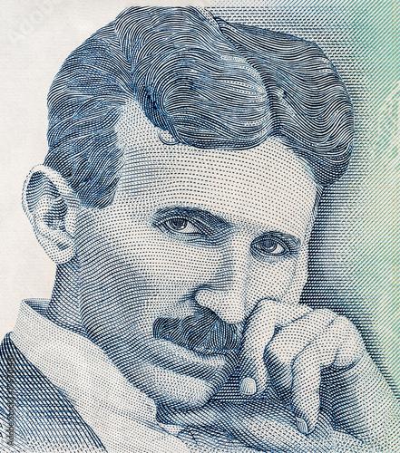 Portrait of scientist Nikola Tesla