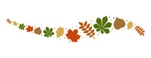 Autumnal Leaves - Concept Of Banner. Vector.