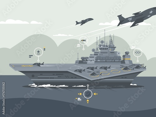 Photo Military aircraft carrier