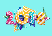 New Year 2018. Colorful Design.