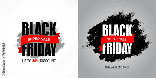 Poster Positive Typography Black Friday sale inscription best design template. Black Friday sale banner.