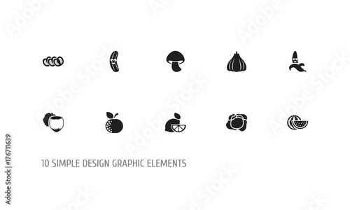 Set Of 10 Editable Cookware Icons Includes Symbols Such As Lime