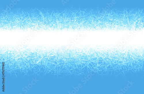 Photo  Winter blue frost background with copy space