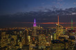 View of New York city in evening, USA