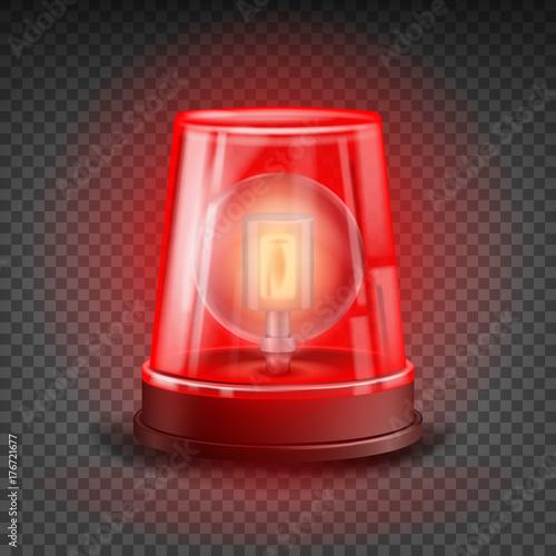 Fotografia Red Flasher Siren Vector