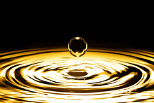 Liquid Gold Drop And Ripple ,a...