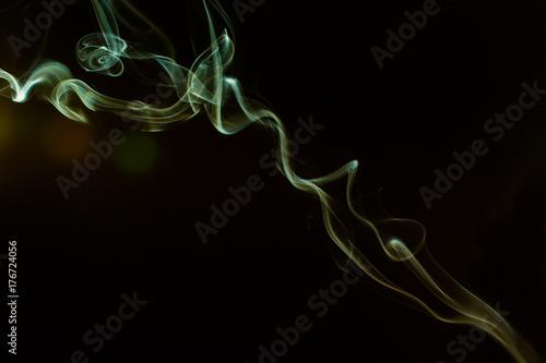 Fototapeta Dym i mgła na czarnym tle