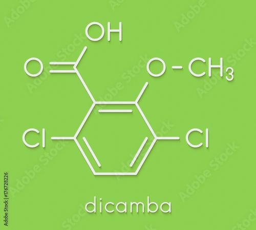 Vászonkép Dicamba herbicide molecule