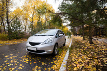 Japanese Hatchback On Autumn R...