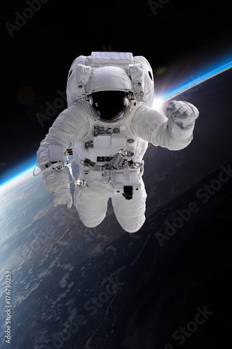 Astronaut at spacewalk