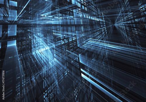 Zdjęcie XXL Fractal Art - obraz komputerowy, tło technologiczne
