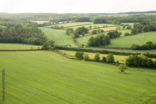 Fotobehang Rijstvelden Aerial view of Buckinghamshire Landscape