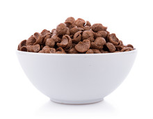 Chocolate Cereals In White Bow...