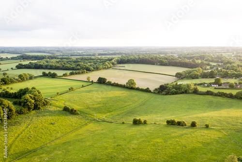 Foto op Canvas Pistache Aerial view of Buckinghamshire Landscape